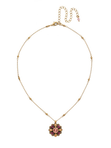 Aster Necklace in Antique Gold-tone Radiant Sunrise