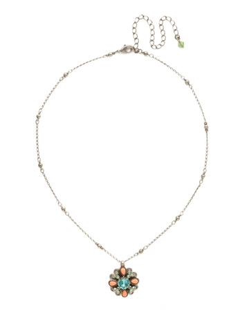 Aster Necklace in Antique Silver-tone Vivid Horizons