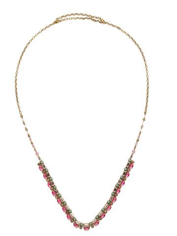 Salvia Necklace in Antique Gold-tone Radiant Sunrise