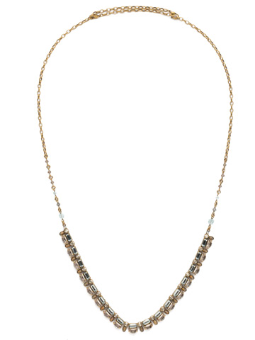 Salvia Necklace in Antique Gold-tone Washed Waterfront