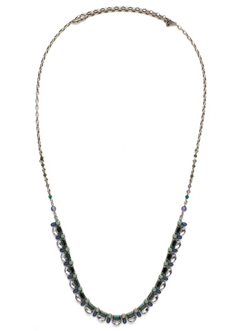Salvia Necklace in Antique Silver-tone Moonlit Shores