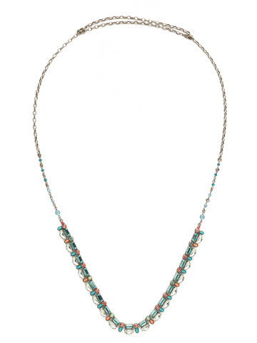 Salvia Necklace in Antique Silver-tone Vivid Horizons