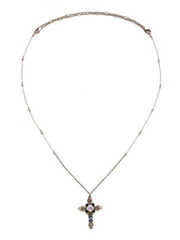 Elowen Necklace in Antique Silver-tone Black Tie