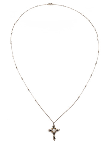 Elowen Necklace in Antique Silver-tone Heavy Metal