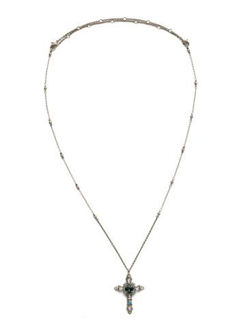 Elowen Necklace in Antique Silver-tone Moonlit Shores