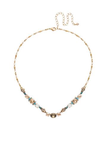 Saffron Necklace in Antique Gold-tone Driftwood