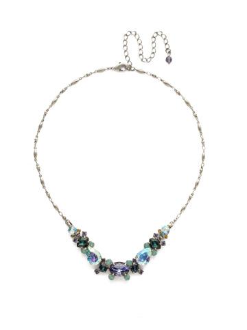 Laurel Necklace in Antique Silver-tone Moonlit Shores