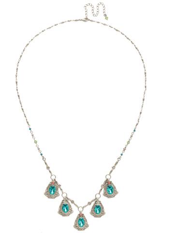 Aconitum Necklace in Antique Silver-tone Vivid Horizons