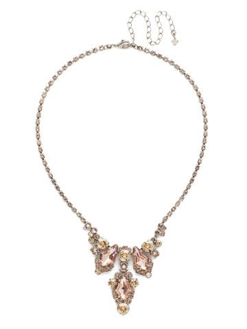 Alder Necklace in Antique Silver-tone Satin Blush