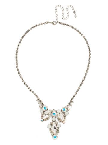 Alder Necklace in Antique Silver-tone White Bridal
