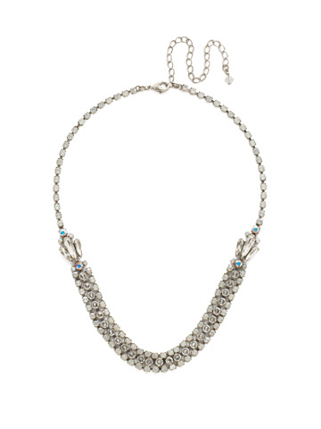 Angelica Necklace in Antique Silver-tone White Bridal