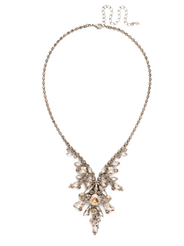 Aubretia Necklace in Antique Silver-tone Satin Blush