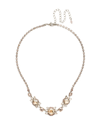 Silene Necklace in Antique Silver-tone Satin Blush
