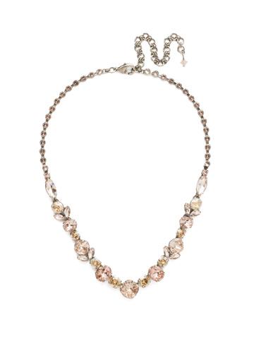 Sparkling Siren Necklace in Antique Silver-tone Satin Blush
