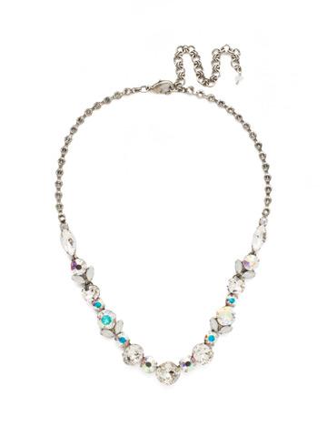 Sparkling Siren Necklace in Antique Silver-tone White Bridal