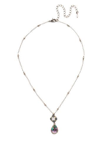 Posey Pendant Necklace in Antique Silver-tone Stargazer