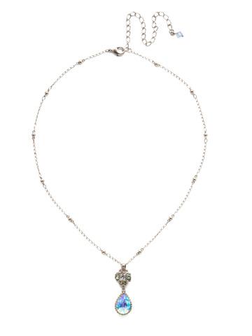 Posey Pendant Necklace in Antique Silver-tone Pastel Prep