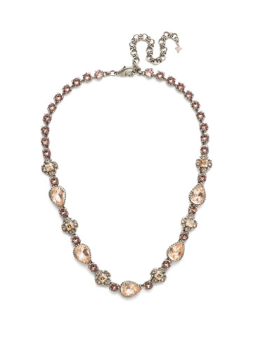Posey Line Necklace in Antique Silver-tone Satin Blush