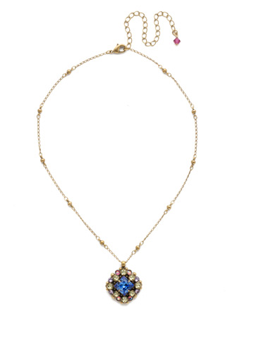 Oxeye Daisy Necklace in Antique Gold-tone Wildflower