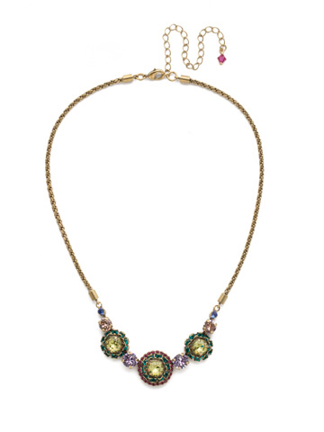 Snapdragon Necklace in Antique Gold-tone Wildflower