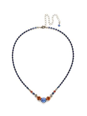 Round Up Necklace in Antique Silver-tone Orange Crush