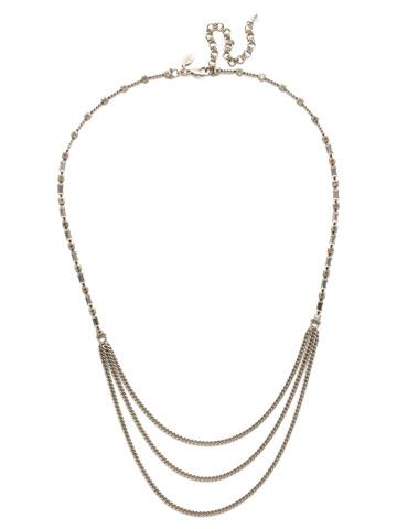 Senna Necklace in Antique Silver-tone Lemon Zest