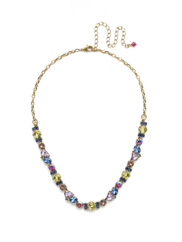 One-of-a-Kind Necklace in Antique Gold-tone Wildflower