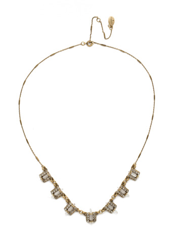 Square's To You Necklace in Antique Gold-tone Crystal