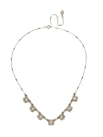 Square's To You Necklace in Antique Silver-tone Crystal