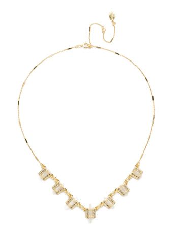 Square's To You Necklace in Bright Gold-tone Crystal