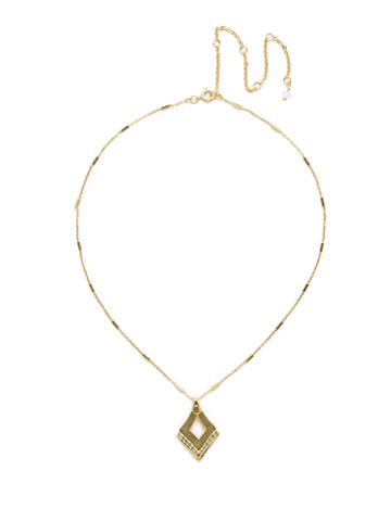 Tri To Love Necklace in Bright Gold-tone Crystal