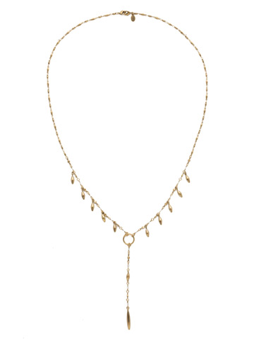 Stand Out Necklace in Antique Gold-tone Crystal