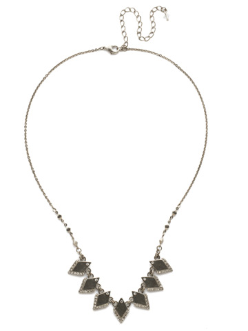 Points of View Necklace in Antique Silver-tone Crystal