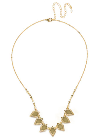 Points of View Necklace in Bright Gold-tone Crystal