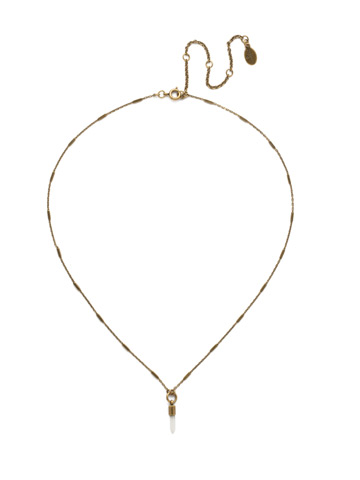 Locked In Necklace in Antique Gold-tone Crystal