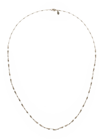 Chained To the Rhythm Necklace in Antique Silver-tone Crystal