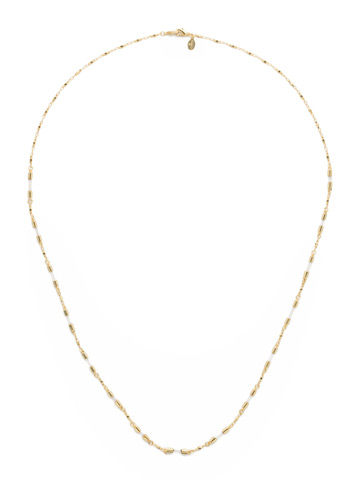 Chained To the Rhythm Necklace in Bright Gold-tone Crystal