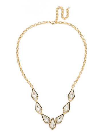 On the Rocks Necklace in Bright Gold-tone Crystal