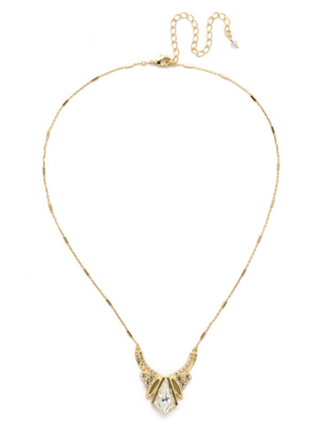 Perfect Symmetry Necklace in Bright Gold-tone Crystal