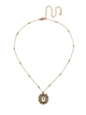 Abelia Necklace in Antique Gold-tone Sandstone