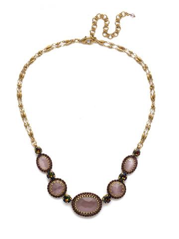 Ballota Necklace in Antique Gold-tone Royal Plum