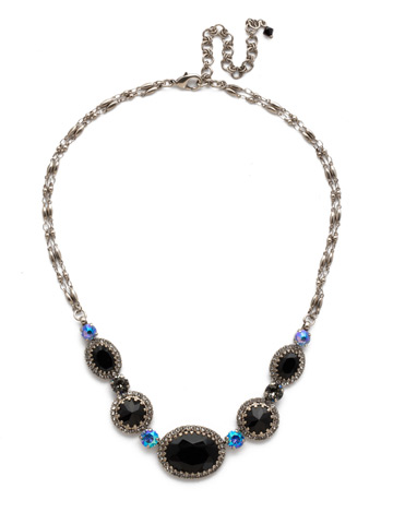 Ballota Necklace in Antique Silver-tone Black Tie