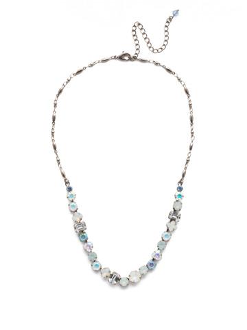 Papaver Classic Line Necklace in Antique Silver-tone Glacier