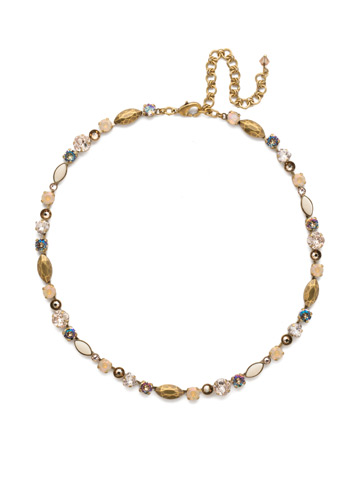 Toyon Necklace in Antique Gold-tone Sandstone