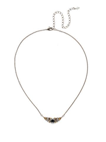 Aralia Delicate Pendant Necklace in Antique Silver-tone Heavy Metal