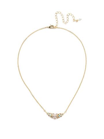Aralia Delicate Pendant Necklace in Bright Gold-tone Silky Clouds