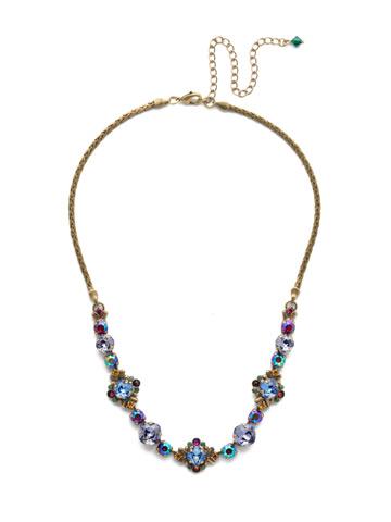 Stonecrop Necklace in Antique Gold-tone Game of Jewel Tones