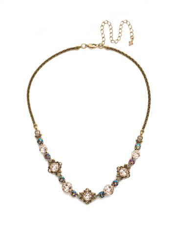 Stonecrop Necklace in Antique Gold-tone Sandstone