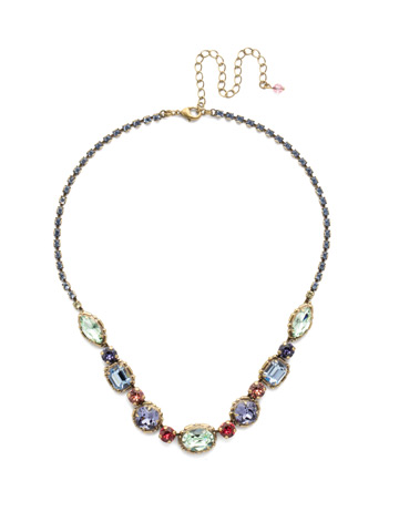 Cardoon Classic Line Necklace in Antique Gold-tone Bohemian Bright