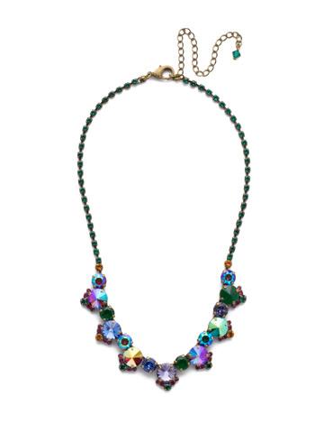 Manzanita Necklace in Antique Gold-tone Game of Jewel Tones
